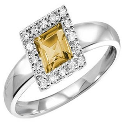 Buy Ag Gem Diamond Golden Brown Gemstones Ring online