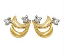 Buy Ag Real Diamond Two Stone Fancy Earring online