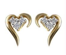 Buy Ag Real Diamond  Fancy Heart Earring online