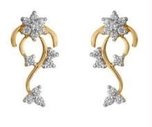 Buy Ag Real Diamond Stone Earring online