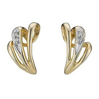 Buy Ag Real Diamond Fancy Shape Earrings online