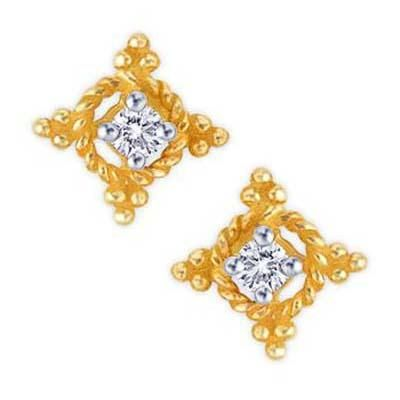 Buy TWO DIAMOND SWIRL SHAPE EARRING online