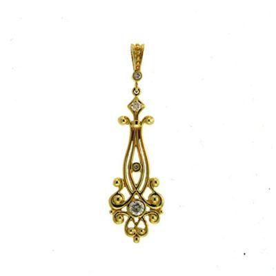 Buy Ag Real Diamond Traditional Dangling Pendant online