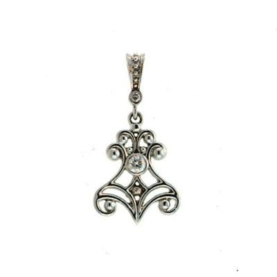 Buy Ag Real Diamond One Stone Traditional Pendant online
