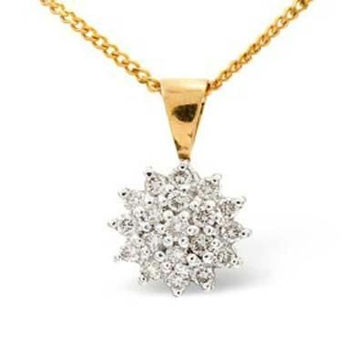 Buy Ag Real Diamond Nineteen Stones Beautiful Pendant online