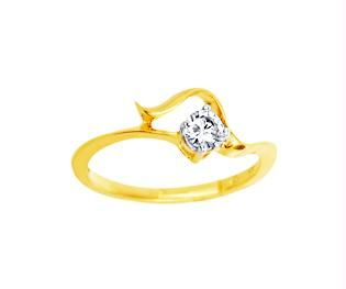 Buy Ag Real Diamond Stone Solitaire Stylist Fancy Ring online