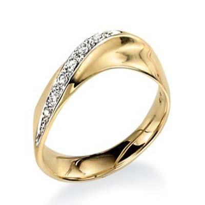 Buy Ag Real Diamond Seven Stones Fancy Band Shape Ring online