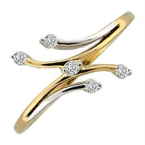 Buy Ag Real Diamond Five Stones Fashion Ring online