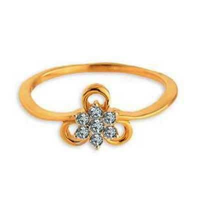 Buy FLOWER WITH RIBBON DIAMOND RING online