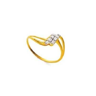 Buy Twested L Shape Diamond Ring Agsr0163 online