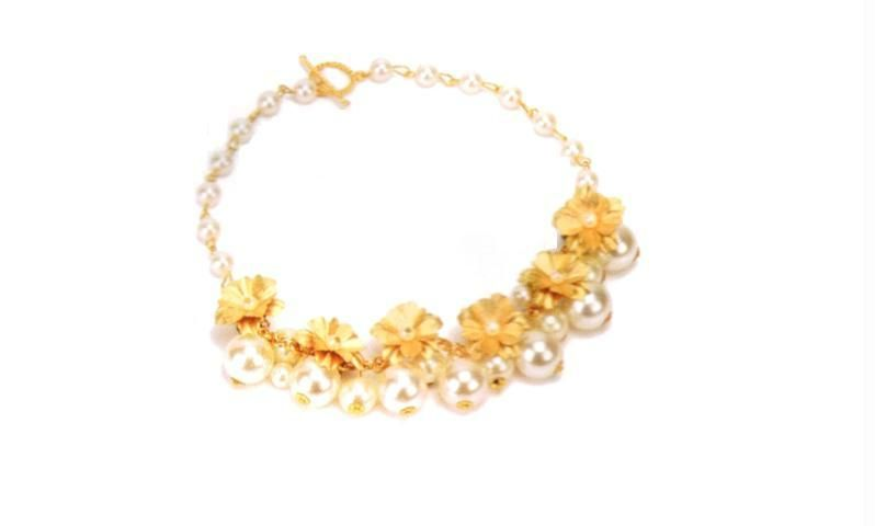 Buy 24k Gold And Pearl Necklace online