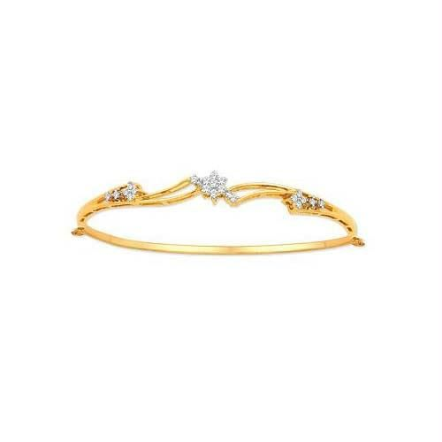 Buy Avsar Real Gold and Diamond BANGLE online
