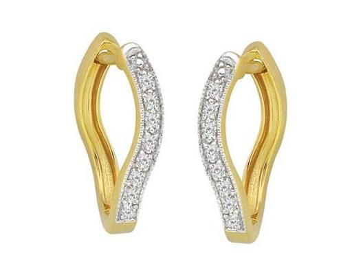 Buy Avsar Real Gold And Diamond Snake Head Shape online