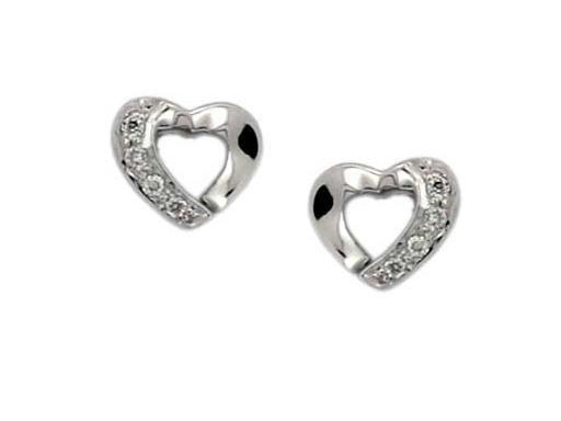 Avsar Real Gold And Diamond Heart Shape Earrings Online