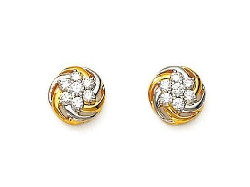 Avsar Real Gold And Diamond Nakshatra Earring Online
