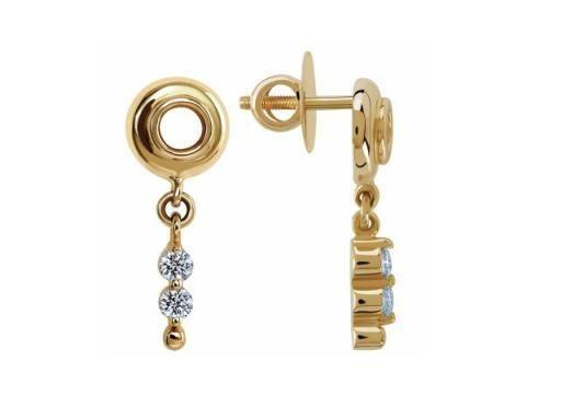 Buy Avsar Real Gold And Diamond Fancy Dangling Earring online