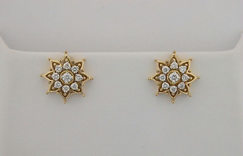Buy Avsar Real Gold And Diamond Beautiful Earrings online