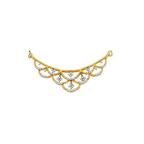 Buy Avsar Real Gold and Diamond MANGALSUTRA online