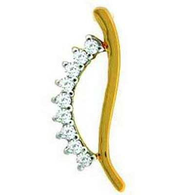 Buy FANCY HAIR PIN SHAPE DIAMOND PENDANT online