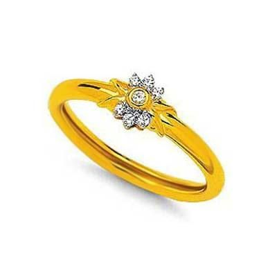 Buy Diamond FLOWER BAND SHAPE DIAMOND RING online