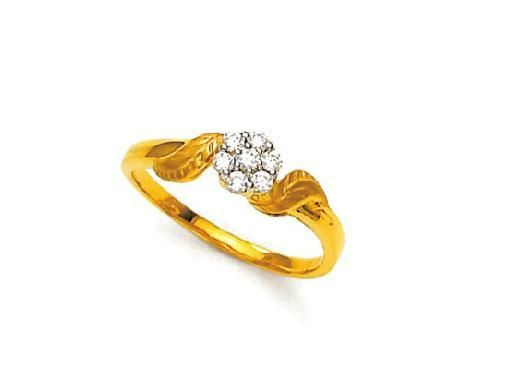 Buy Avsar Real Gold And Diamond Beautiful Fashion Ring online