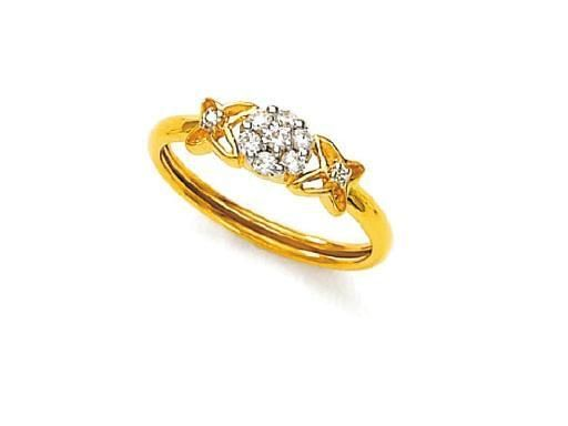 Buy Avsar Real Gold and Diamond Preety Ring online