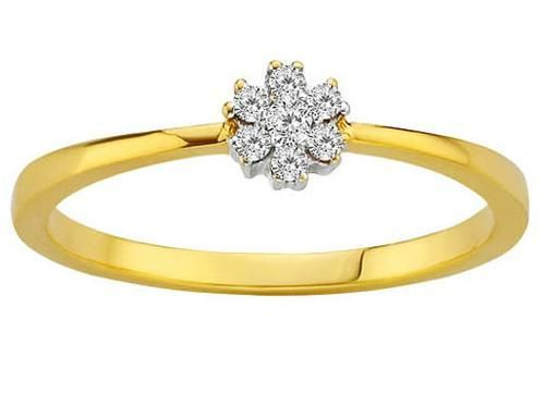 Buy Avsar Real Gold And Diamond Fashion Ring Ring online
