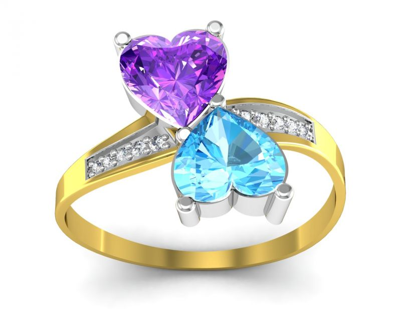 Buy Ag Real Diamond Manipur Ring Agger001y online
