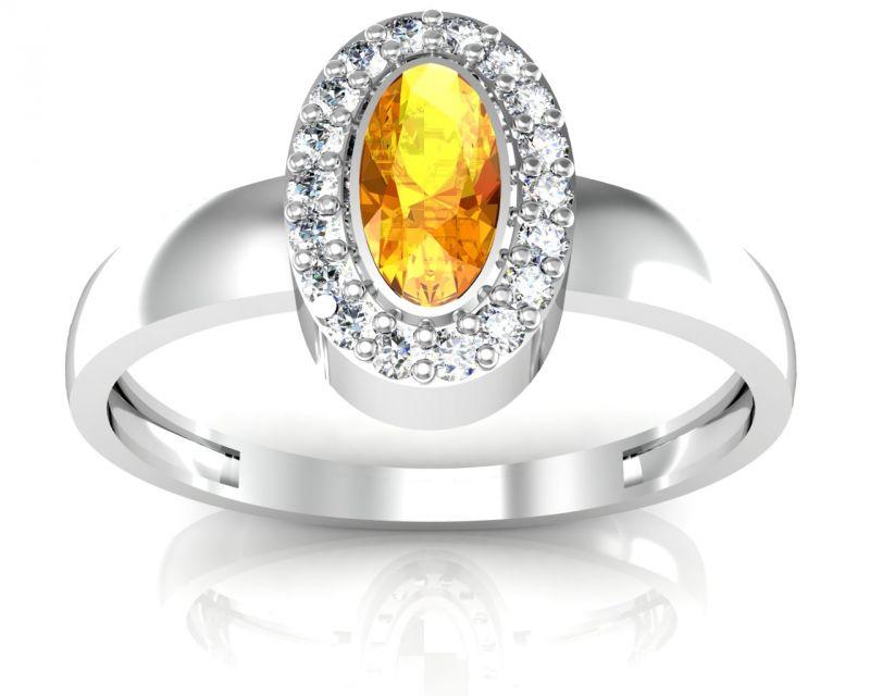 Buy Ag Real Diamond Kanyakumari Ring Agger003w online