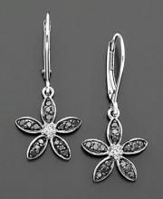 Buy Ag Real Diamond Star Earring online