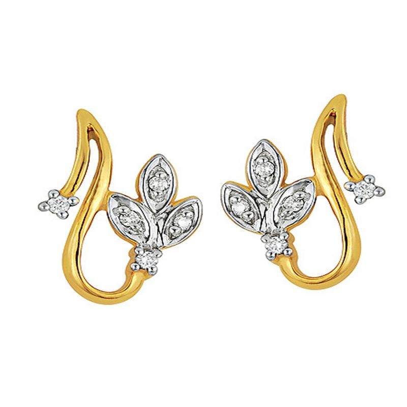 Buy Ag Silver & Real Diamond Kanika Earring online