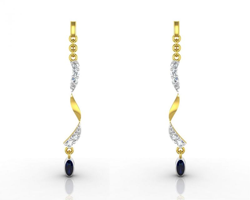 Buy Ag Real Diamond  Deepika  Earring online