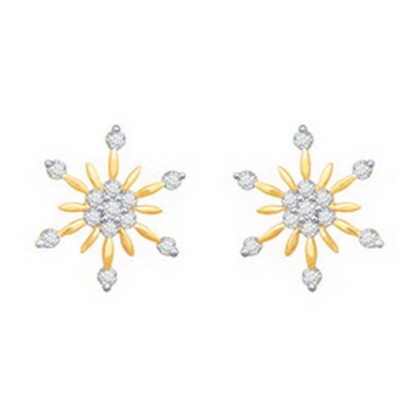 Buy Ag Real Diamond Kashmir Earring online