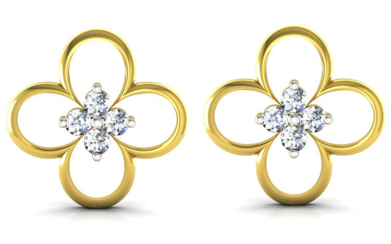 Buy Ag Real Diamond  Poonam  Earring online