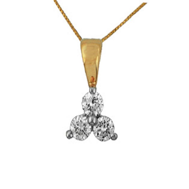 Buy Ag Real Diamond  Poonam Pendant online