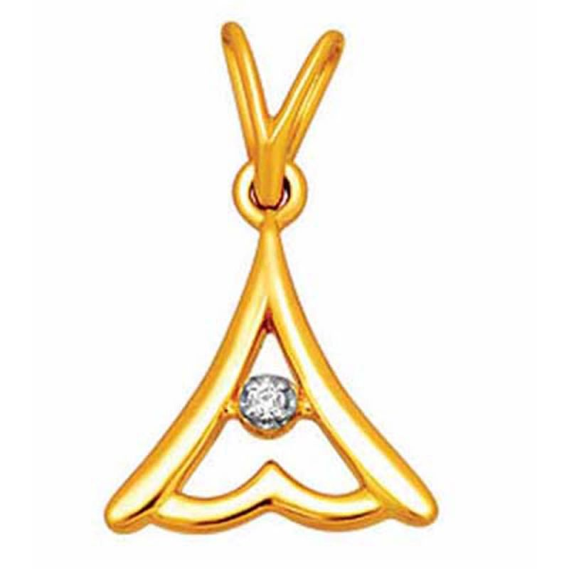 Buy Ag Real Diamond Shraddha Pendant online