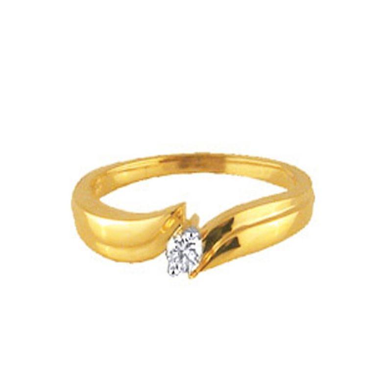 Buy Ag Real Diamond Pune Ring online