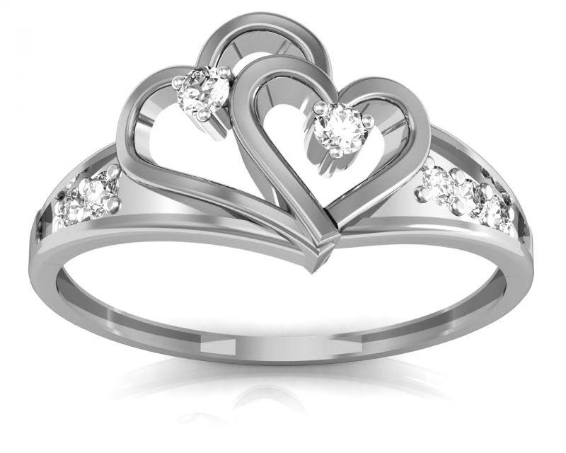 Buy Ag Real Diamond Nilam Ring Agsr0098w online