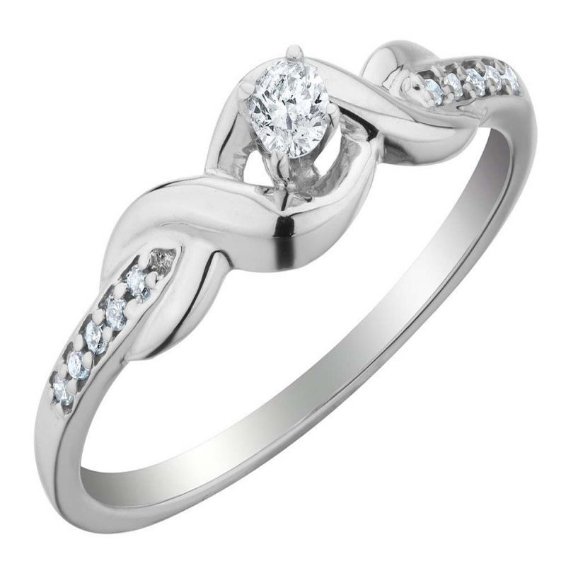 Buy Ag Real Diamond Preeti Ring online