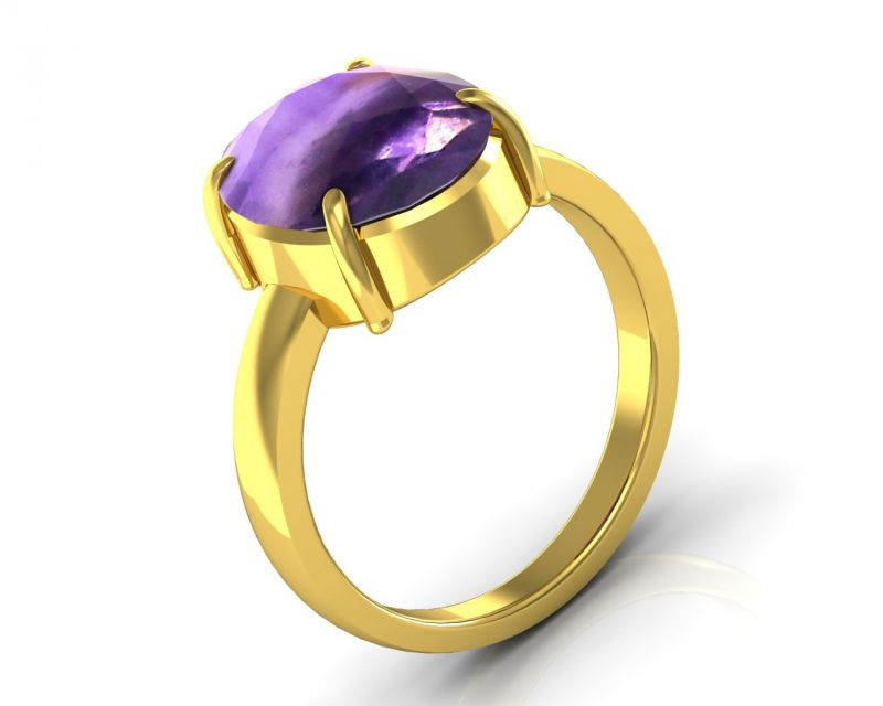 Buy Kiara Jewellery Certified Katela 3.0 cts or 3.25 ratti Amethyst Ring online