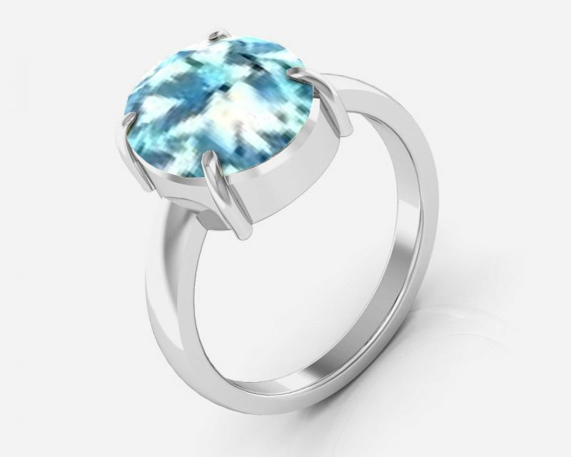 Buy Kiara Jewellery Certified Aquamarine 5.5 cts or 6.25 ratti Aquamarine Ring online