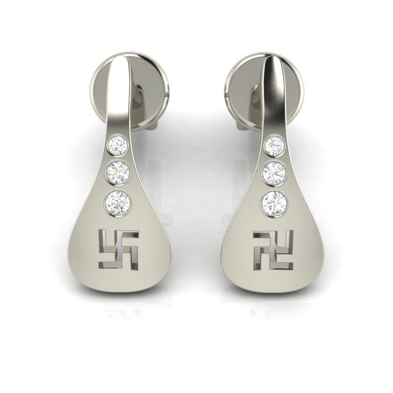 Buy Avsar Real Gold Minal Earring Ave001we online