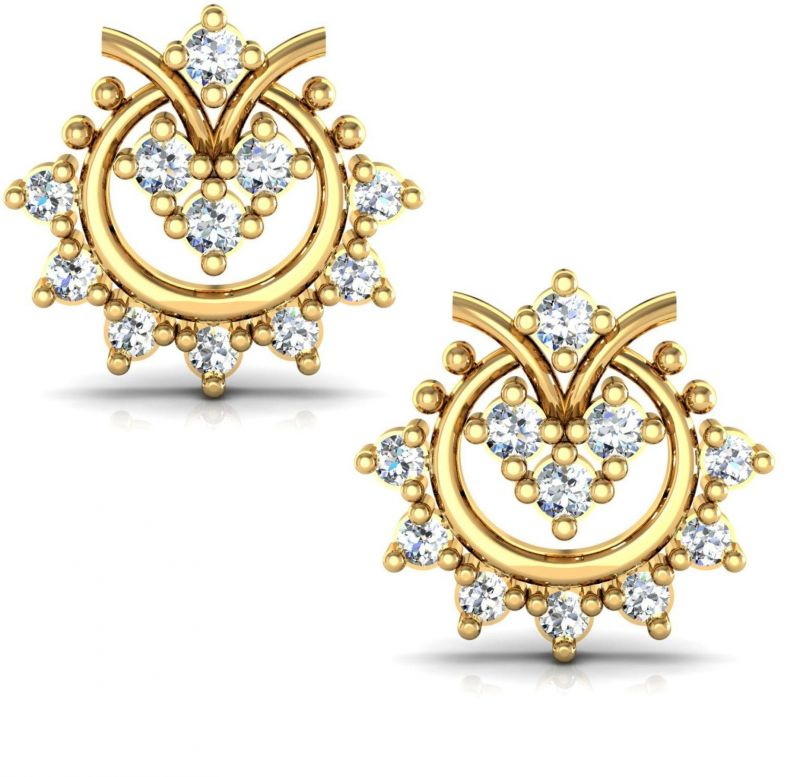 Buy Avsar Real Gold and Diamond Sonakshi Earrings online