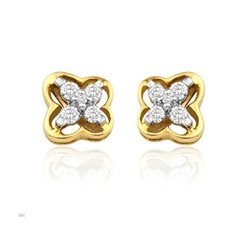 Buy Avsar Real Gold And Diamond Mayuri Earring (code - Ave007n) online