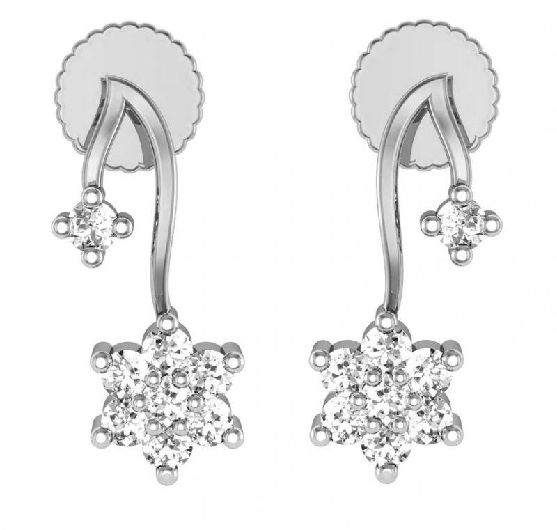 Buy Avsar Real Gold and  Diamond Kinjal Earrings online