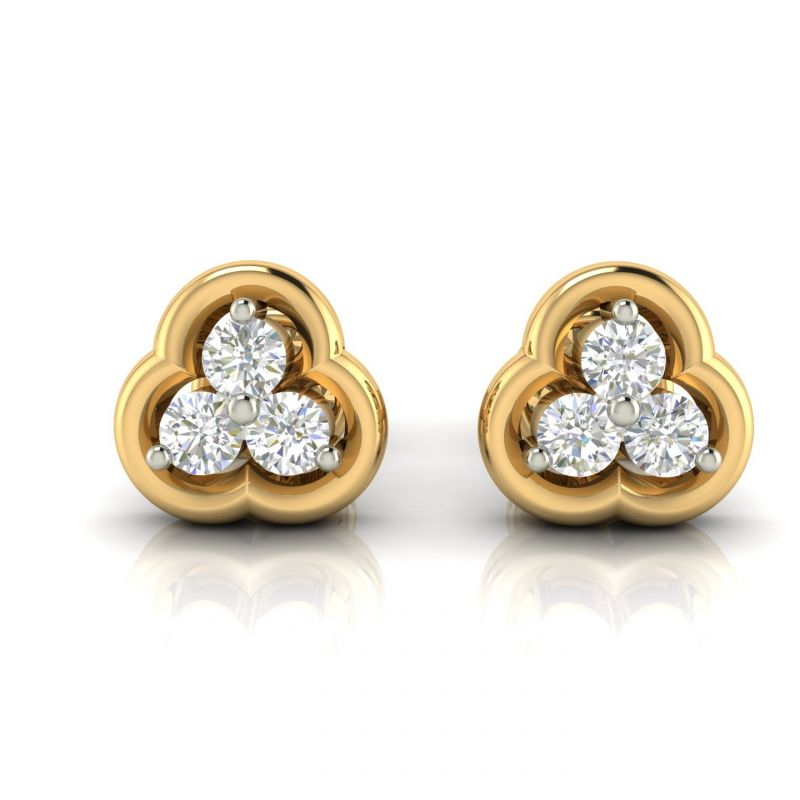 Buy Avsar Real Gold and Diamond Earring online