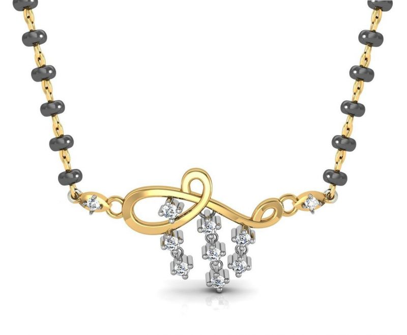 Buy Avsar Real Gold and Swarovski Stone Lucknow Mangalsuta online