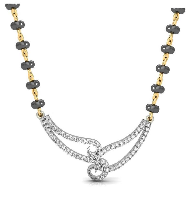 Buy Avsar Real Gold and Swarovski Stone Mumbai Mangalsutra online