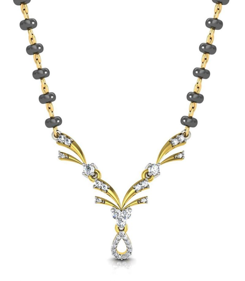 Buy Avsar Real Gold and Diamond Ranchi Mangalsuta online