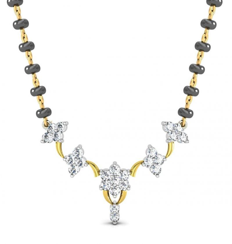 Buy Avsar Real Gold and Swarovski Stone Channai Mangalsutra online